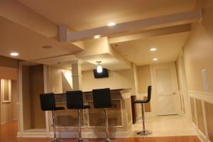 Customized basement interior remodel
