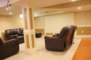 basement pennington remodeling job