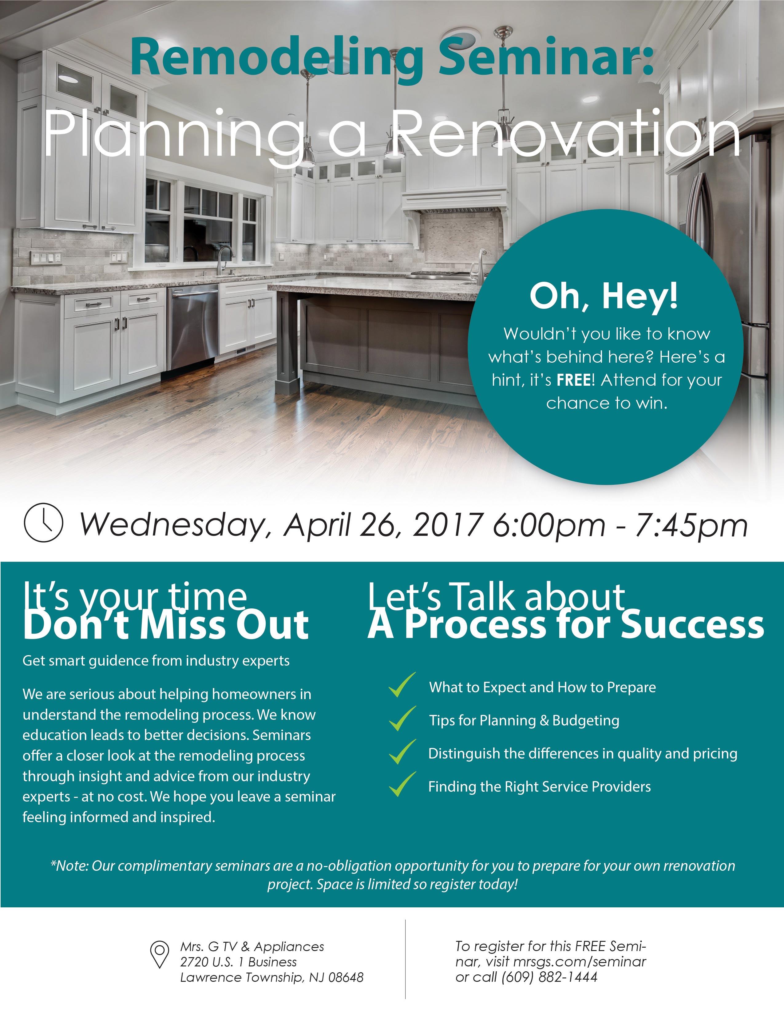Landing Page Remodeling Seminar - DES Home Renovations